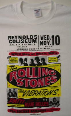 ROLLING STONES GLOBE CONCERT POSTER 1965 T-SHIRT LARGE EXTRA LARGE #fashion #entertainment #memorabilia #musicmemorabilia #rockpop (ebay link)