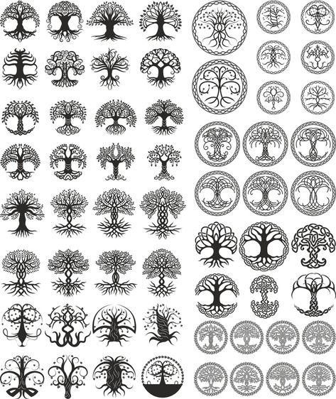 New Celtic Tree Tattoo Tatoo Ideas Celtic Tree Tattoos, Viking Tattoos, Wiccan Tattoos, Warrior Tattoos, Symbolic Tattoos, Celtic Symbols, Celtic Art, Mayan Symbols, Irish Symbols