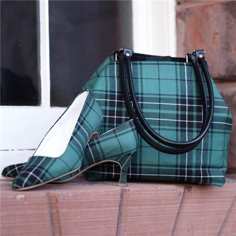 Tartan Shoulder Bag and matching shoes