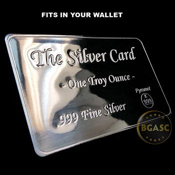 1 Oz The Silver Card By Pyromet Fits In Your Wallet Silver Card Storage Silver Bullion