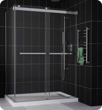 Fleurco Npu60 Gemini Plus Frameless Bypass 60 Sliding Shower Doors With Return Panel With Images Sliding Shower Door Shower Doors Frameless Sliding Shower Doors
