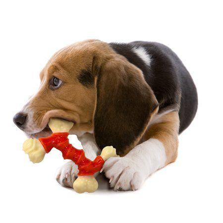 Nylabone Power Chew Dura Chew Double Bone Bacon Dog Chew Toy