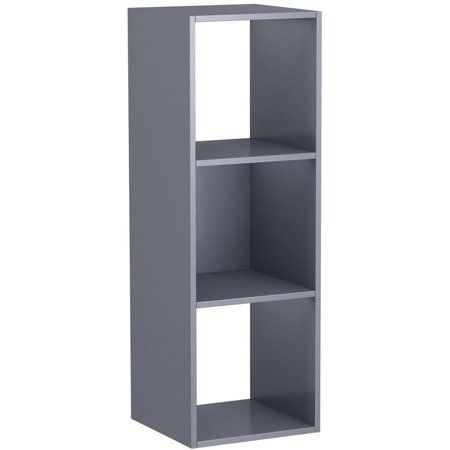 Mainstays 3 Cube Storage Organizer Gray Walmart Com In 2020 Cube Storage Storage Organization Collapsible Storage Bins
