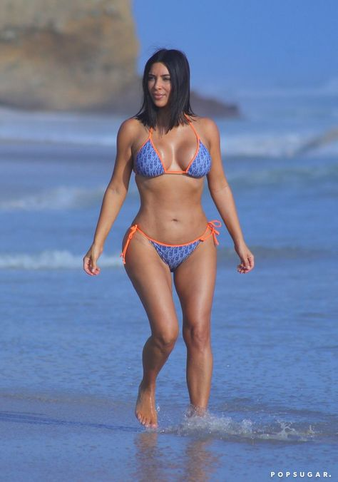 Once again Kim Kardashian is in Bikini and becoming the limelight of internet gossips and news. Her sexy figure in a hot bikini is looking stunning.