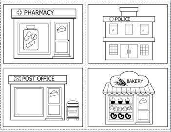 Community Places Community Places Coloring Worksheets For Kindergarten Places In The Community