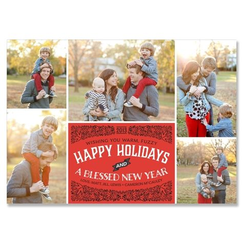 Garland - Cherry - Unique Holiday Card by The Green Kangaroo