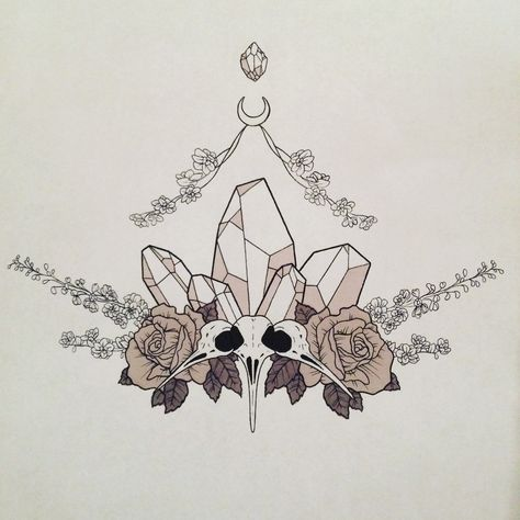 "petite-faerie:  ""Sternum Tattoo ✨  ""  I have a weird adoration for animal bones idk"