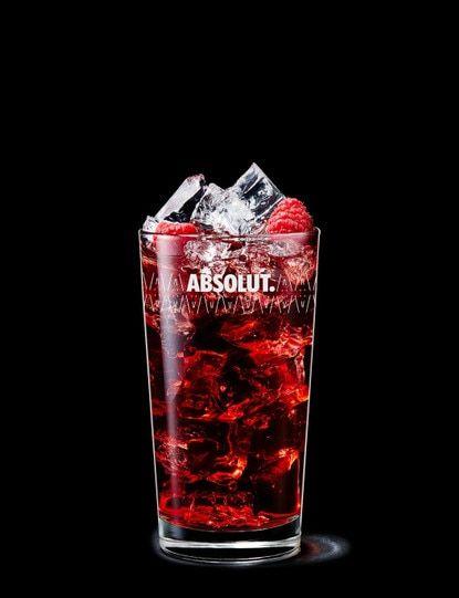 Absolut Raspberri With Cranberry Juice Himbeer Likor Erdbeerlikor