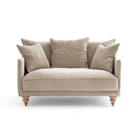 Canape Lin Stonewashed Lazare Coussin Assise Canape Ampm Et