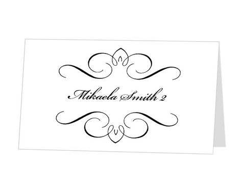 Printable Wedding Place Card Template  - place card template