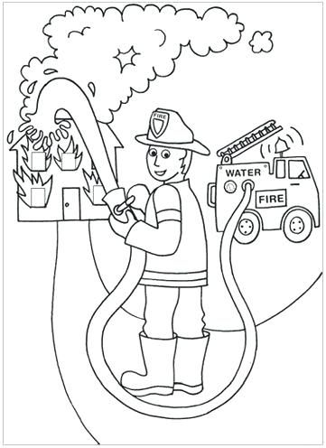 Firefighter Coloring Pages For Preschoolers Best Images On