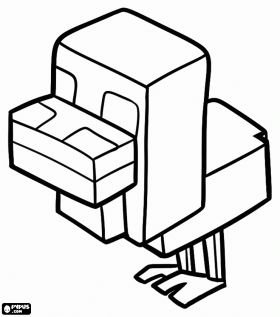 8500 Top Coloring Pages Minecraft Animals For Free
