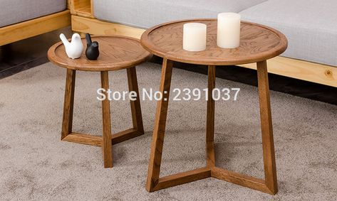 Brand New Japanese Style Oak Wood Round Coffee Table Coffee Round