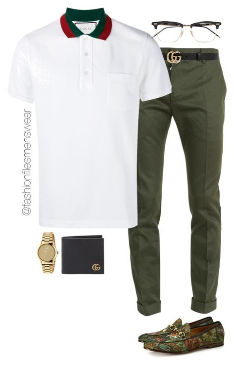 A menswear look from August 2016 featuring mens white shirts, men's apparel and gucci mens shoes. Browse and shop related looks.