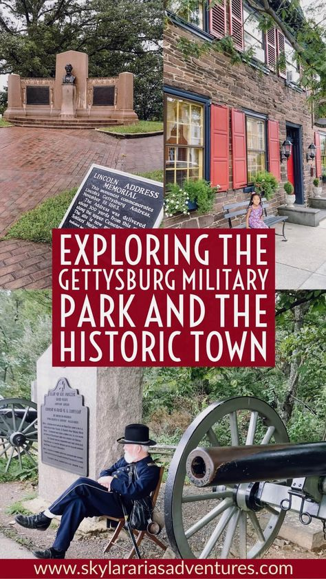 A visit to Gettysburg Pennsylvania - Skylar Aria's Adventures Gettysburg Movie, Gettysburg College, Gettysburg National Military Park, Gettysburg Address, Pennsylvania Dutch Country, Hotel Pennsylvania, Gettysburg Pennsylvania, National Park Passport, Gettysburg Battlefield