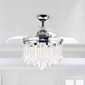 Rosdorf Park 46 Mateo 3 Blade Ceiling Fan With Remote Control Wayfair In 2020 Ceiling Fan Chandelier Chandelier Fan Ceiling Fan