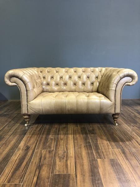 Newcastle Chesterfield 2 Seater In Hand Dyed Parchment Chesterfield Sofa Leather Chesterfield Chesterfield Furniture