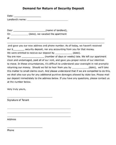 Free printable legal form Security deposit - receipt for payment - financial release form