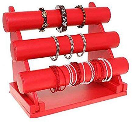 Porte bijoux support bracelet et montre 3 joncs en simili cuir