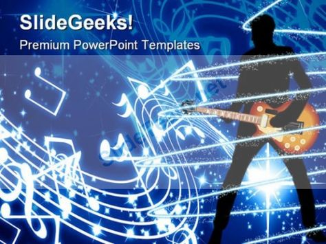 Guitar Music Powerpoint Template 0610 Powerpoint Templates Themes