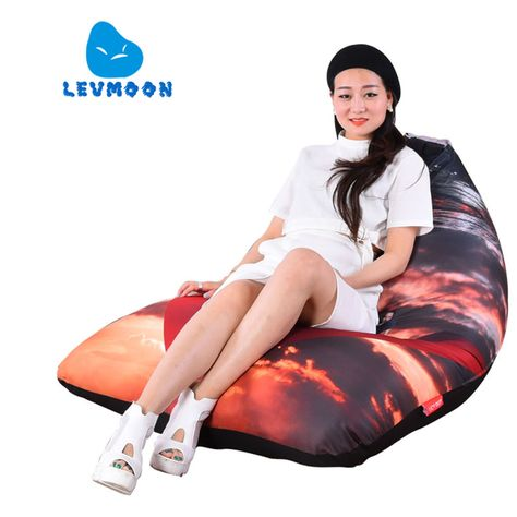 Furniture Living Room Sofas Levmoon Beanbag Sofa Chair Che Guevara Seat Zac Comfort Bean Bag Bed Cover Without Filling Cotton Indoor Beanbags Lounge Chair