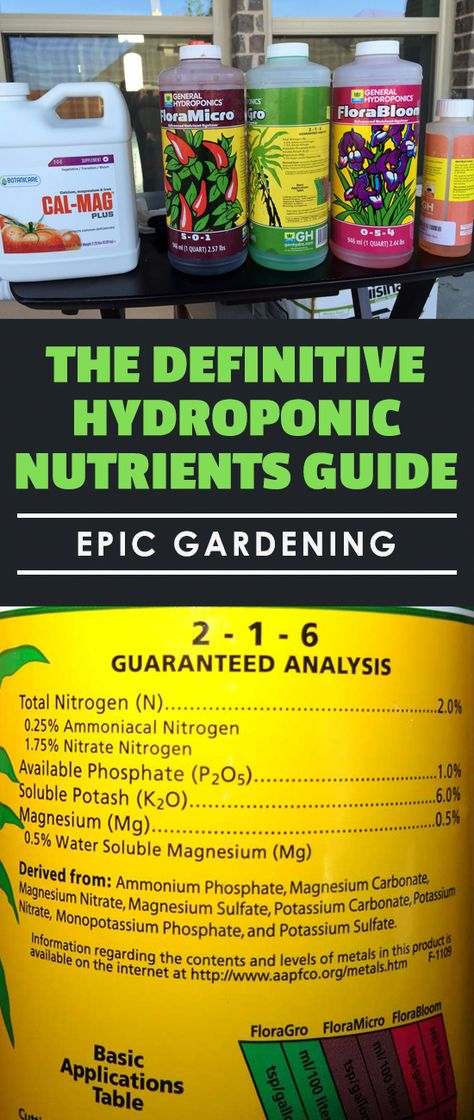 The Definitive Hydroponic Nutrients Guide | Epic Gardening