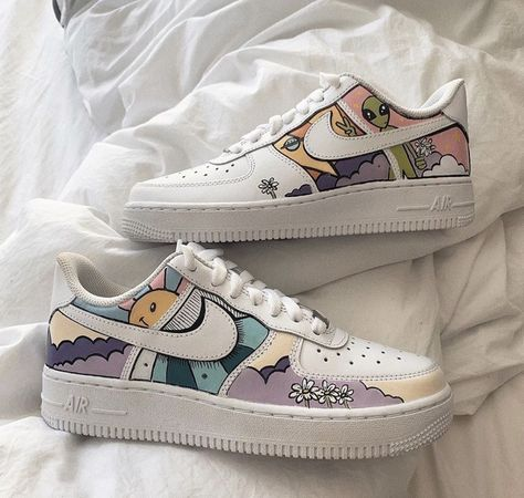 What do you think of these customs? Custom Painted Shoes, Custom Shoes, Custom Tennis Shoes, Custom Clothes, Hand Painted Toms, Nike Custom, Custom Af1, Jordan Shoes Girls, Girls Shoes