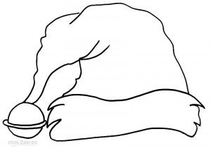 Santa Claus Hat Coloring Page Coloring Pages How To Draw Santa Color