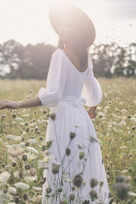 The bellflower dress in blanc ~ (pre order) — Kara Thoms