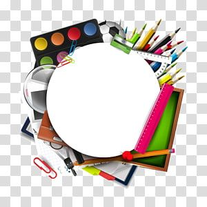 Assorted Color And Type Art Kit Illustration Student Sacred Heart Catholic School Class School Supplies Transparent Back Clip Art Art Kit School Illustration