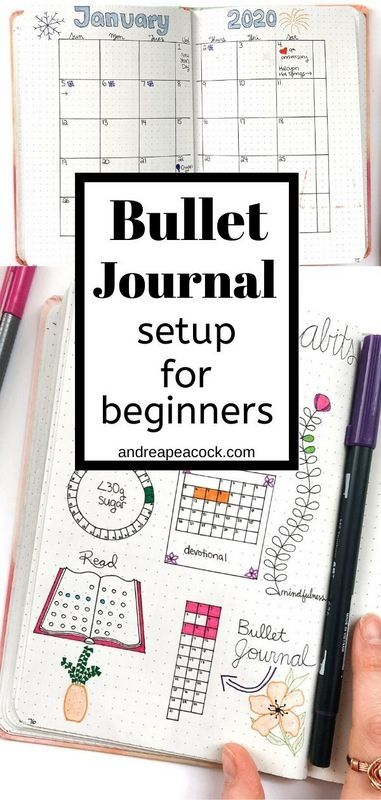 Setp-by-step guide to bullet journal setup for beginners. Set yourself up for success, track birthdays, habits and important events with your bullet journal. All you need to know about how to start a bullet journal for the new year. Bullet Journal Tracking, Bullet Journal Yearly, Bullet Journal For Beginners, Bullet Journal Writing, Bullet Journal Ideas Pages, Bullet Journal Inspo, Bullet Journal Layout, Bullet Journal Events, Bullet Journal Getting Started