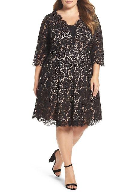Lace Fit & Flare Dress (Plus Size)   nordstrom rack modest ...