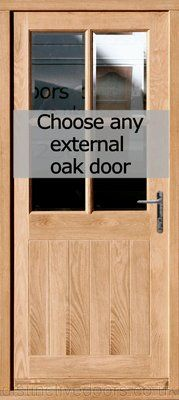 Oak pre hung external door set & Back door Dooria Door | Front door | Pinterest | Front doors Back ... pezcame.com