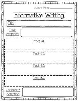 First Grade Writing Unit