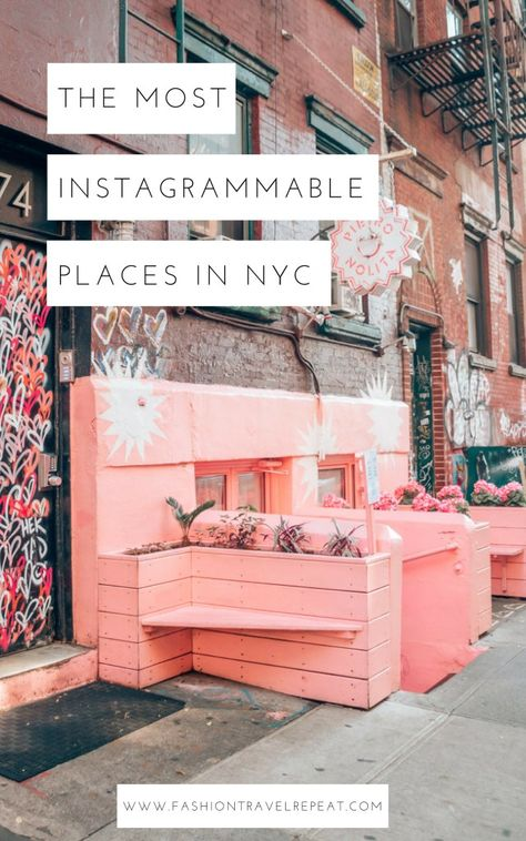 The best Instagram spots in NYC (New York City) for photography. All of the most Instagrammable places in NYC (New York City). Where to take Instagram photos in NYC. New York City photography locations #instagramspotsnyc #bestinstagramspotsnyc #wheretotakeinstagrampicsnyc #nycphotolocations #nycphotospots #instagrammablenyc #instagrammableny #instagrammablenewyorkcity
