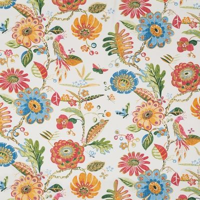 Popular Multi Floral Large Upholstery Fabric By Duralee Item