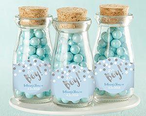 Personalized Milk Jar - It's a Boy! (Set of 12) | Kate Aspen