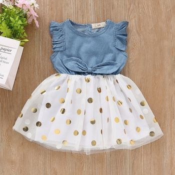 Toddler Chica De Nino Vestido Sin Mangas De Encaje Solido Esponjoso At Patpat Com Baby Girl Dress Patterns Baby Frocks Designs Dresses Kids Girl