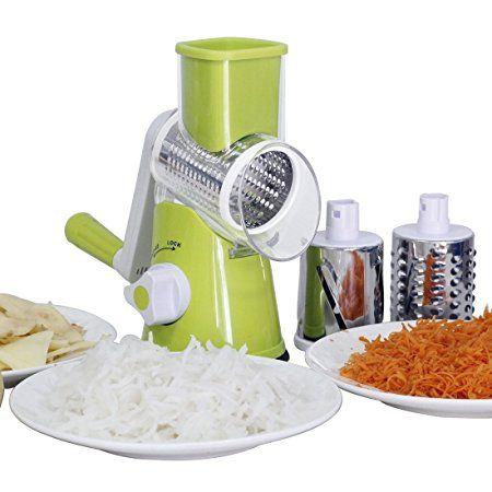 Mandoline Slicer Adjustable Vegetable Chopper Food Processor with 4-Blade Green