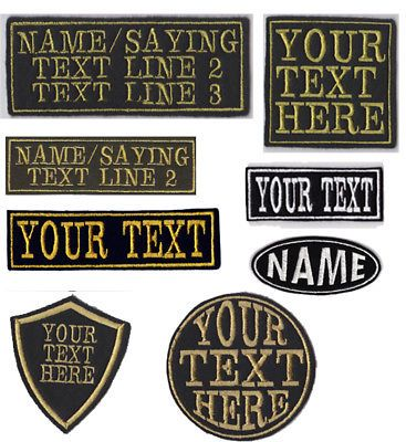 Personalised Name Embroidered Patches Badge Iron on or sew