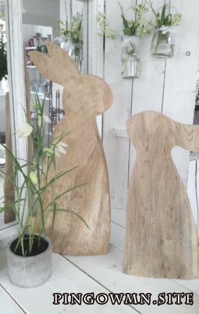 Schoner Hase Aus Holz Osterdeko Kleines Schwedenhaus Turdeko