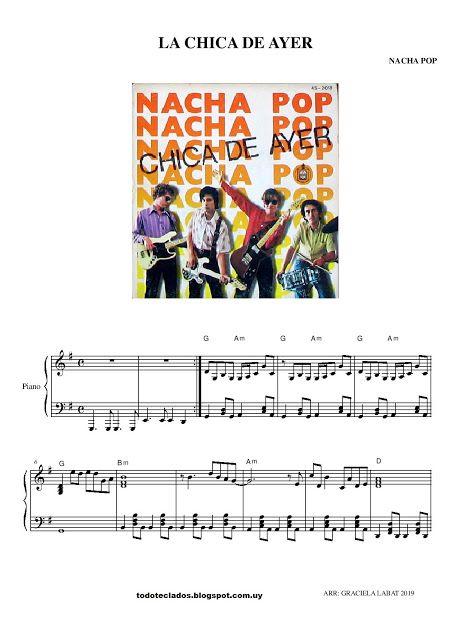 La Chica De Ayer Nacha Pop Letras Y Acordes Partituras Para Piano Sencillas Carole King