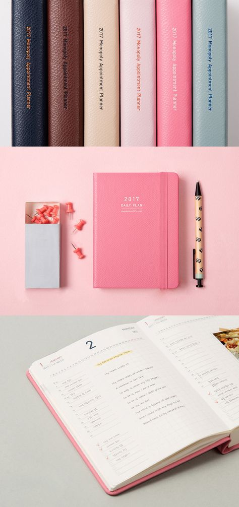 A daily planner in a compact package? Yes, please! The 2017 Daily - appointment planner