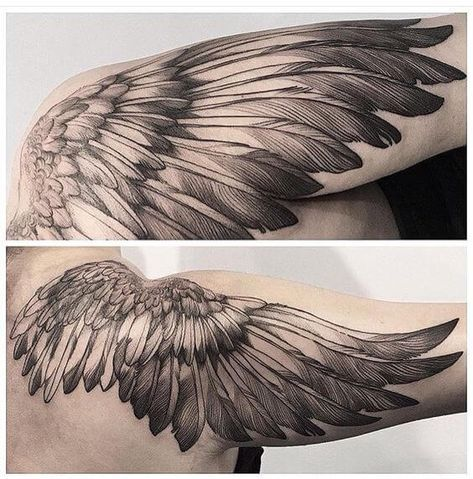 Wing Tattoos For Men Wing Tattoo Men Feather Tattoos Tattoos For Guys