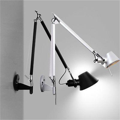 Modern Long Swing Arm Adjustable Wall Lamp Sconce Light Bedroom