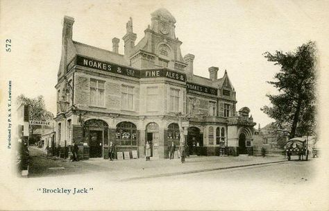 Brockley Jack, Lewisham in the early 1900s. Formerly the Castle, Brockley Lane, Lewisham in 1862, and rebuilt in 1898