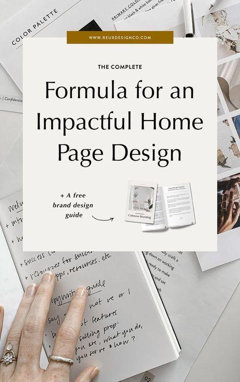 Homepage design formula