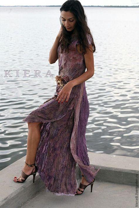 52114eabc1c Валяное шелковое платье FLORIDA - купить или заказать в интернет-магазине  на Ярмарке Мастеров