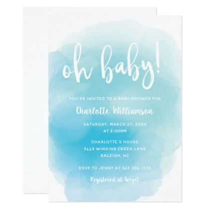 Watercolor oh baby shower invitation baby gifts child new born watercolor oh baby shower invitation baby gifts child new born gift idea diy cyo special negle Image collections