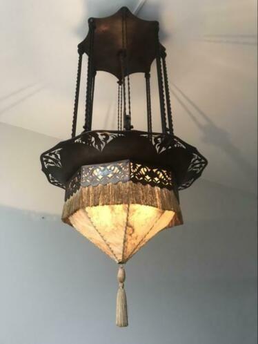 Amsterdamse School Gispen Of Winkelman En Van Der Bijl Lamp Antieke Lampen Art Deco Lampen Amsterdamse School